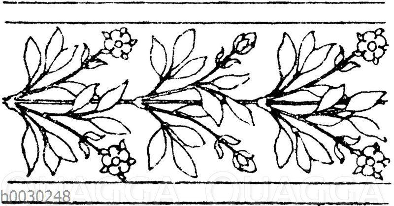 Blattbänder und Rankenbänder: Bordüren für Holzbemalung