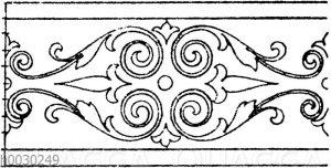 Blattbänder und Rankenbänder: Bordüre von einem Bilde des Domenico Zampieri. 16. Jahrhundert (Musterornamente)