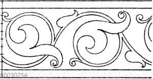 Blattbänder und Rankenbänder: Französische Bordüre. (Cäsar Daly)