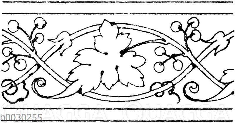 Blattbänder und Rankenbänder: Gravierung eines Serviettenringes