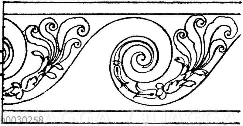 Wasserwogenband: Wasserwogenband nach Sebastian Serlio. 16. Jahrhundert
