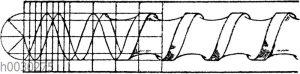 Heftschnur: Heftschnur von der Form gedrehter Strenge.