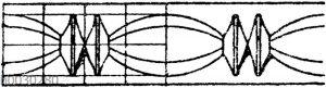 Heftschnur: Einfacher antiker Perlschnur.