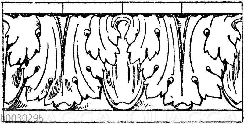 Blattstab: Römischer Akanthusblattstab nach Jacobsthal.