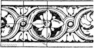 Verzierte Wulste vom Louvre in Paris. Französische Renaissance. (Baldur)
