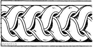 Verzierte Wulste: Antike Torengeflechte.