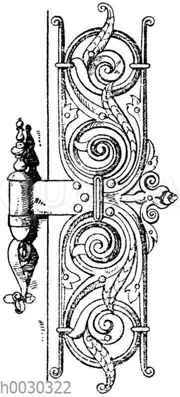 Renaissance-Türband vom Rathaus in Augsburg. Anfang des 17. Jahrhunderts. (Musterornamente)