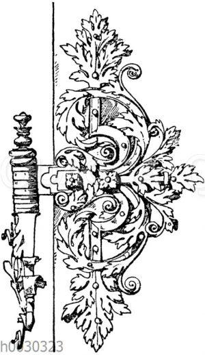 Renaissance-Türband von einer Türe aus Ettlingen