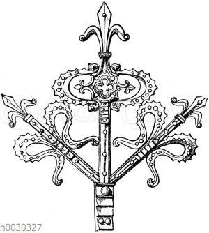 Gotischer Beschlag von einer Kirchentüre aus Viersen bei Köln. Anfang des 15. Jahrhunderts.