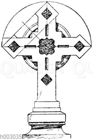 Kreuz in Stein: Turmkreuz der Kirche St. Pierre zu Montrouge. Paris. (Raguenet)