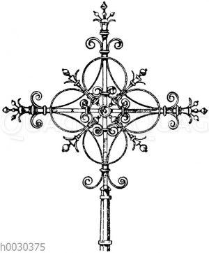 Kreuz in Schmiedeisen: Turmkreuz