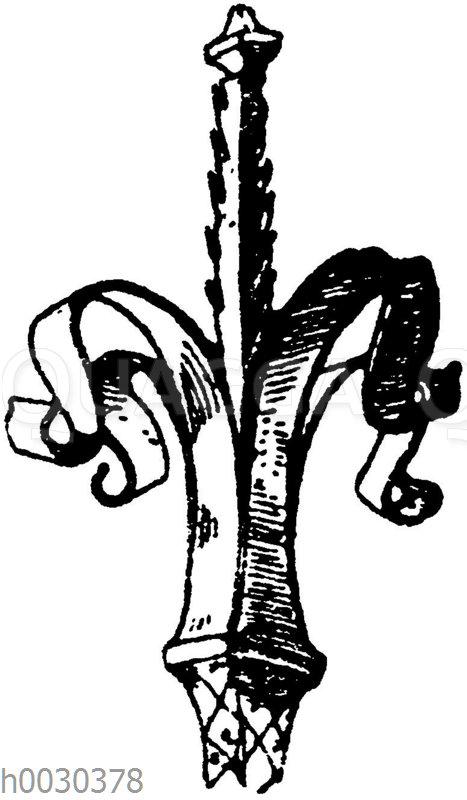 Blumen in Schmiedeisen: Partie von einem Gitter. Kathedrale zu Toulouse. 15. Jahrhundert. Viollet-le-Duc.