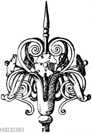 Blumen in Schmiedeisen: Schmiedeiserne Blume aus dem 16. Jahrhundert. (Guichard)