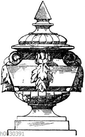 Französische Vase vom Kriegsministerium in Paris