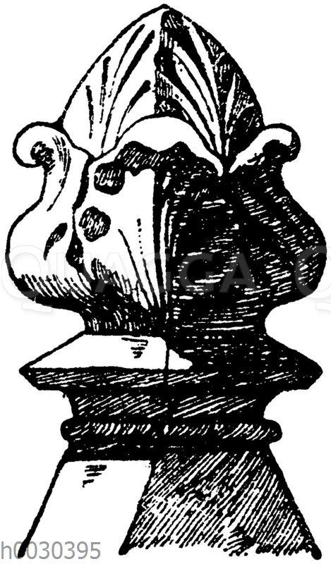 Steinknopf vom Dom zu Mailand. Italienische Gotik. (Raguenet)