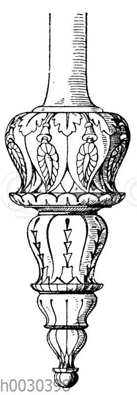 Hängezapfmotiv nach Jacobsthal. Von einem antiken Dreifuß.
