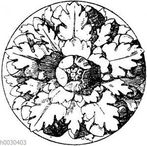 Fünfteilige römische Rosette.