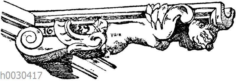 Wasserspeier von der Apsis der Kirche S. Eustache in Paris. (Raguenet)