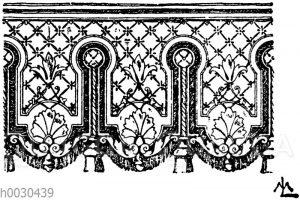 Lambrequinsmotiv im Stile Louis XVI. nach Eugen Prignot.