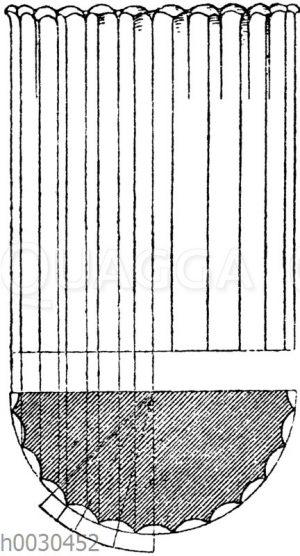 Kannelurenendigung von den Säulen am Lysikratesdenkmal in Athen.