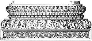 Römische Basis vom Konkordiatempel in Rom. (De Vico)
