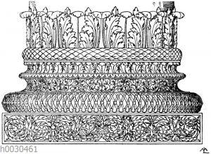Römische Basis vom Baptisterium des Konstantin in Rom. (Vorbilder für Fabrikanten und Handwerker)
