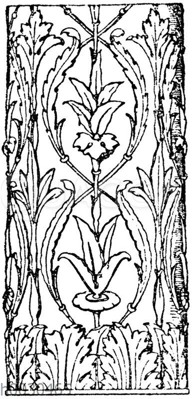 Motiv eines ornamentierten Säulenschaftes. Italienische Renaissance. Grabmal in St. Maria del popolo in Rom. Von Sansovino.