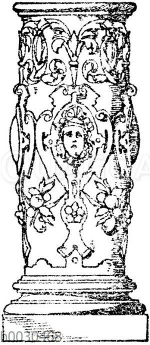 Säulenschaft: Untere Partie einer Säule aus dem Dome zu Mainz.