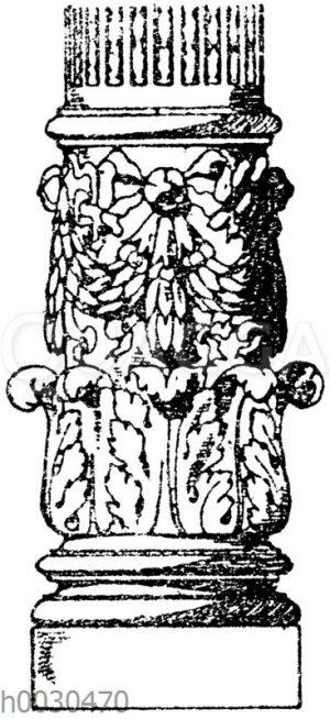 Säulenschaft: Säule vom Palais du commerce in Lyon. (Raguenet)