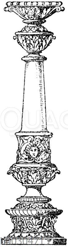Säulenschaft: Säule von einer allegorischen Darstellung von Anton Seder in Straßburg. (Gerlach)
