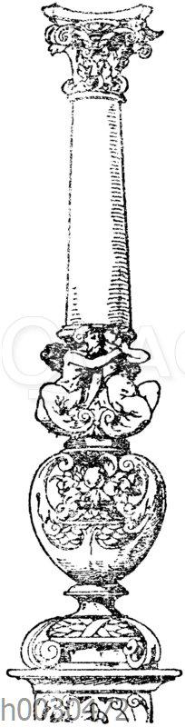 Säulenschaft: Säule von einem Diplom von Dir. Hammer in Nürnberg.