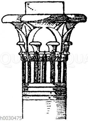 Ägyptisches Kapitell vom Tempel zu Philä.
