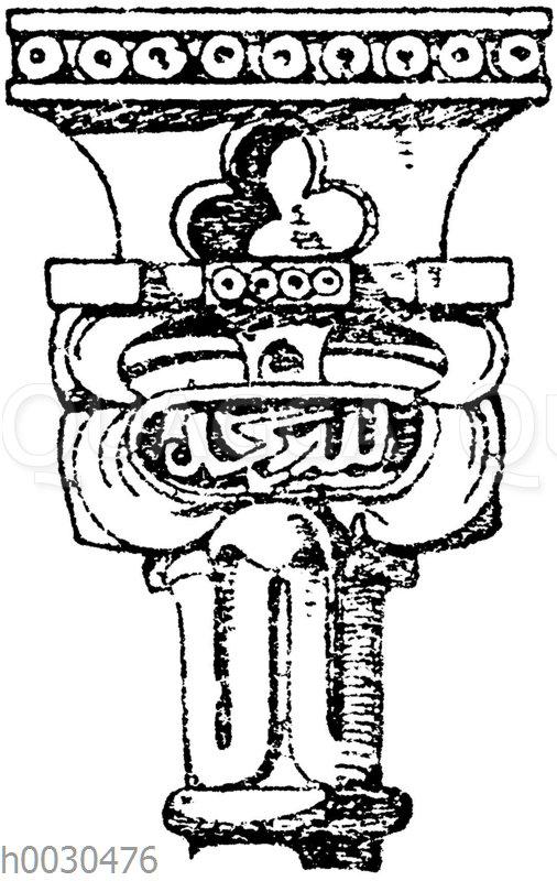 Maurisches Kapitell aus der Alhambra. Saal der zwei Schwestern. (Raguenet)