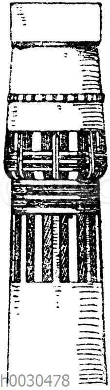 Ägyptisches Kapitell vom Tempel Memnonium zu Theben.