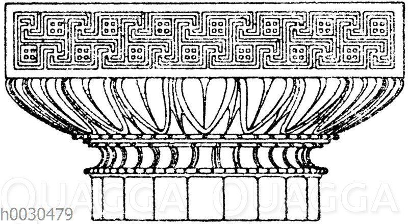 Griechisch-dorisches Säulenkapitell.