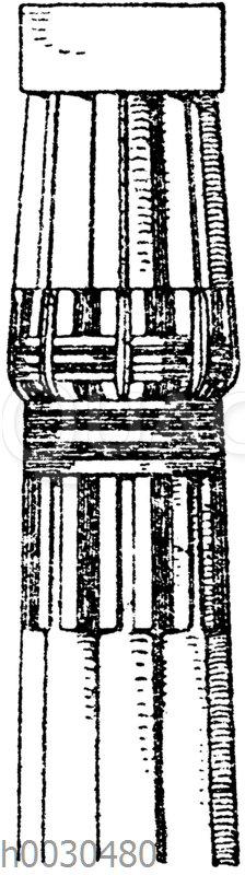 Ägyptisches Kapitell vom Tempel zu Luxor. (Owen Jones)