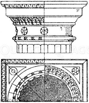 Römisch-dorisches Säulenkapitell aus den Thermen des Diokletian. (Mauch und Lohde)