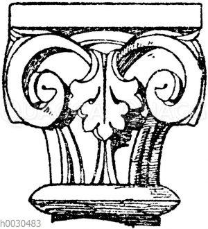 Romanisches Säulenkapitell.