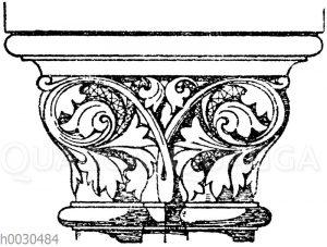 Romanisches Doppelkapitell.