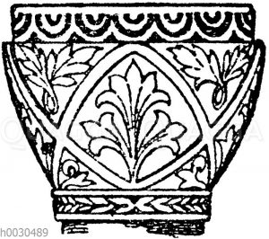 Byzantinisches Säulenkapitell aus Sta. Sofia in Konstantinopel.
