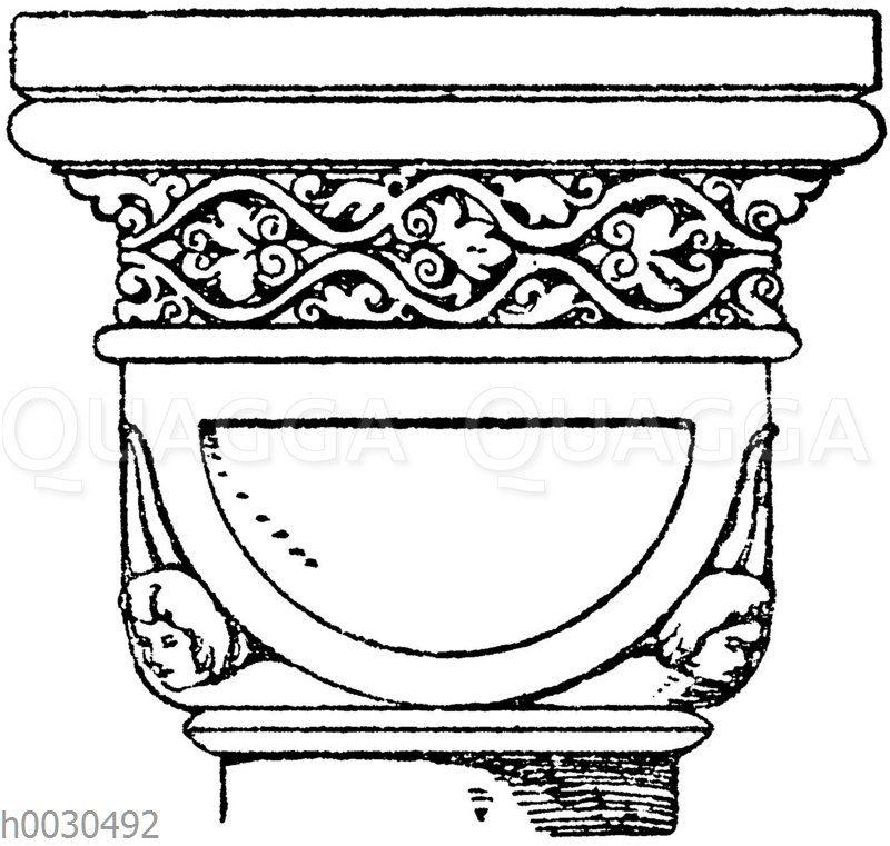 Romanisches Würfelkapitell.