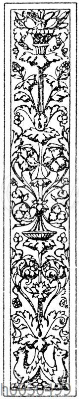 Pilasterschaft: Pilasterfüllung. Ital. Renaissance. Aus Sta. Maria dei Miracoli in Venedig.