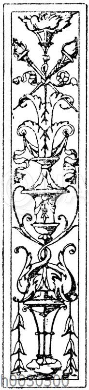 Pilasterschaft: Pilasterfüllung. Ital. Renaissance. Von Benedetio da Majano.