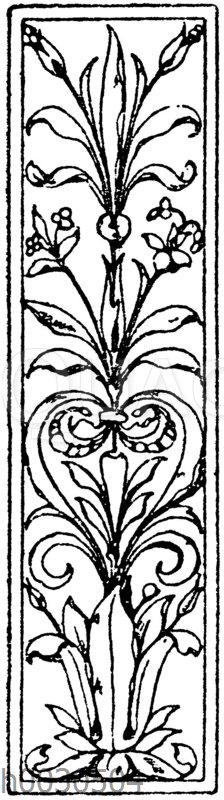 Pilasterschaft: Pilasterartige Füllung im Stile der italienischen Renaissance. 19. Jahrhundert.