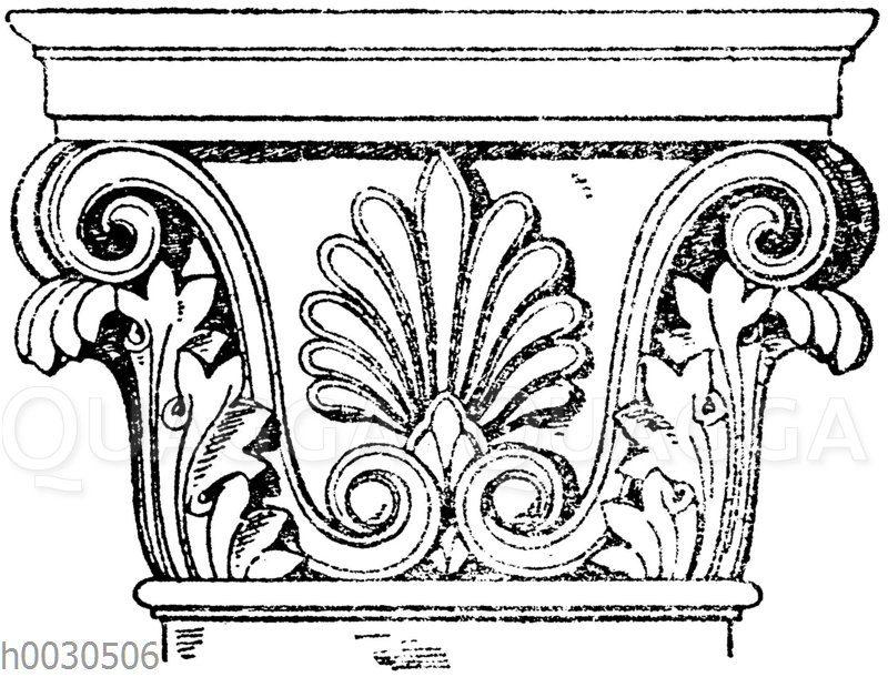 Griechisch-korinthisches Pilasterkapitell.