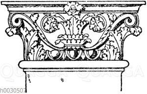 Römisch-korinthisches Pilasterkapitell. (Bötticher)