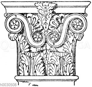 Römisch-korinthisches Pilasterkapitell vom Pantheon in Rom.