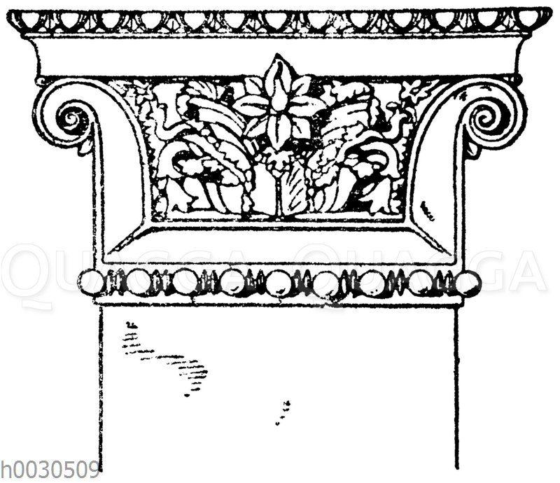 Griechisch-ionisches Wandpfeilerkapitell.