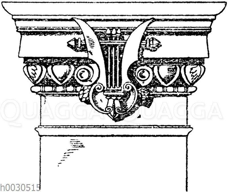 Neo-dorisches Pilasterkapitell von der neuen Oper in Paris. Architekt Garnier.