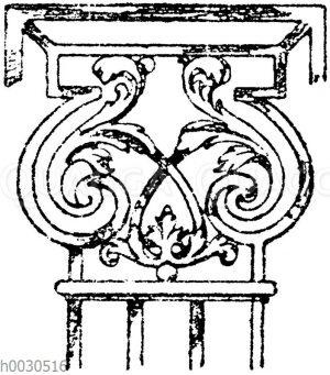 Pilasterkapitell: Schmiedeisernes Kapitell von einem Gitter im Schloss zu Athis-Mons. Französisch. 17. Jahrhundert.